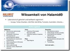 Halamid ist zugelassen in der Aquakultur und löst alle Probleme mit Krankheitserregern und einzelligen Ektoparasiten.