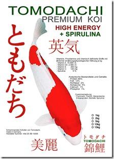 Premium Koifutter von Tomodachi für gesunde und bildschöne Koi.