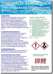 Tomodachi Klarer Teich - unschlagbare Teichhygiene mit der Kraft des reinen Sauerstoffs.
