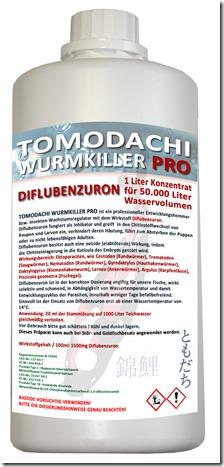 Tomodachi Wurmkiller ist kein Killer sondern ein Entwicklungshemmer, der die Vermehrung der Parasiten Im Teich nachhaltig und lange verhindert.